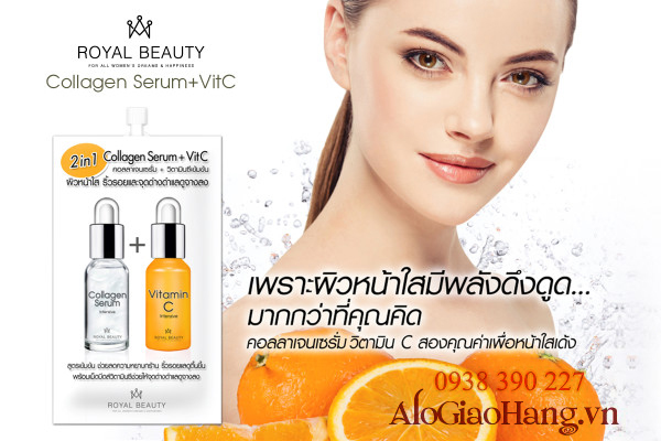 Serum vitamin C thái lan, serum collagen thailan